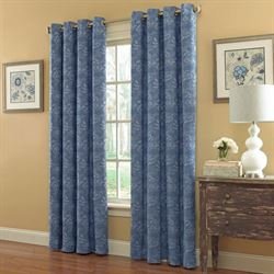Floral Trellis Grommet Curtain Panel