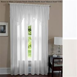 Lia Lined Voile Tailored Curtain Panel