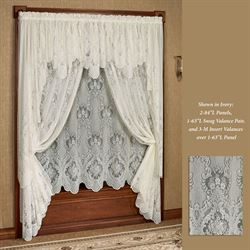 Vanessa Long Swag Valance Pair 72 x 63