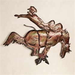Bucking Bronco Wall Art Brushed Bronze
