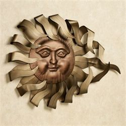 Solaire Rays Wall Sculpture Gold/Bronze