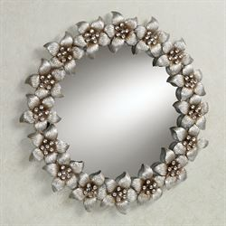 Blooming Jewels Wall Mirror Champagne Silver
