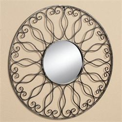 Prisca Wall Mirror Gold/Black