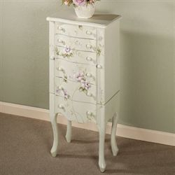 Colette Jewelry Armoire Celadon