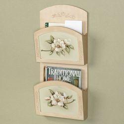 Magnolia Blooms Wall Organizer Dark Beige