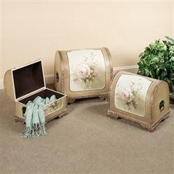 Briella Rose Storage Chest Set Harvest Gold Set of Three