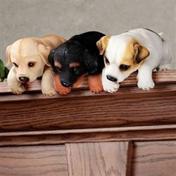 Puppy Shelf Sitter Black/Tan