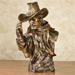 Cowboy Sculpture Weathered Bronze