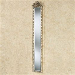 Giuliana Floral Wall Mirror Panel Silver Gold