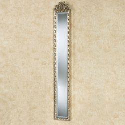 Giuliana Floral Wall Mirror Panel Silver Gold
