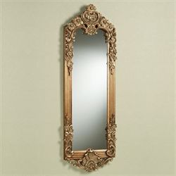 Gadsden Floral Mirror Dark Gold