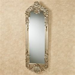 Gadsden Floral Wall Mirror Platinum Large