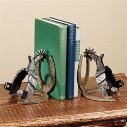 Call of the West Bookend Pair Antique Pewter