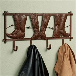 Kickin Country Wall Hook Rack Rustic Brown