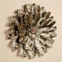 Delicate Blossom Wall Sculpture Champagne Gold