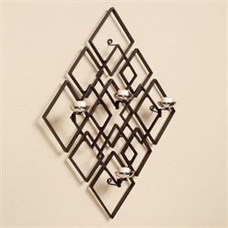 Diamond Intermix Tealight Holder Wall Accent Brushed Bronze