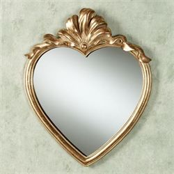 Karessa Heart Wall Mirror Antique Gold