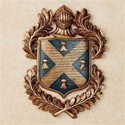Tassel Coat of Arms Wall Plaque Midnight