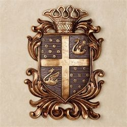 Monarchy Coat of Arms Wall Plaque Plum