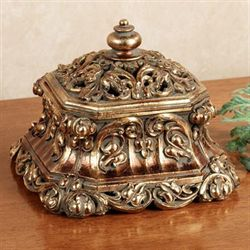 Phoebe Covered Box Baroque Gold