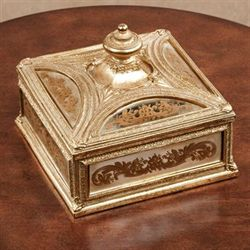 Nora Mirrored Covered Box Gold