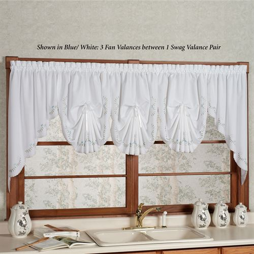 Forget Me Not Fan Valance 30 x 40
