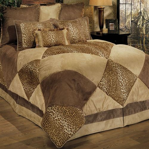 Safari Comforter Bed Set Tawny Beige