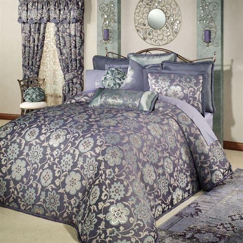 Milana Floral Grande Bedspread Slate