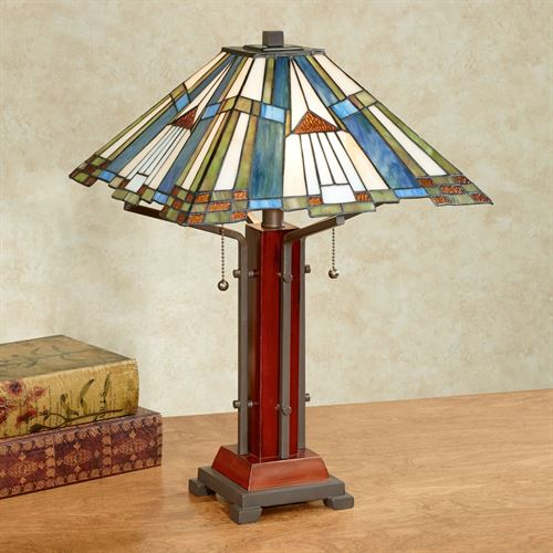 El Camino Stained Glass Table Lamp Multi Earth Each