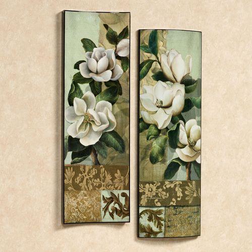 Magnolia Elegante II Wall Art Set Cypress Set of Two