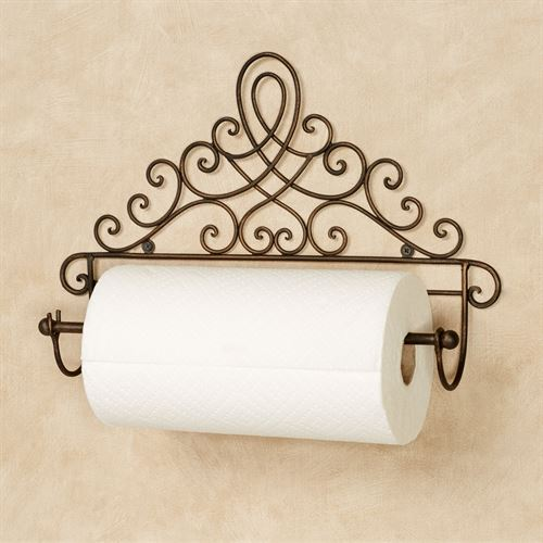 Coria Wall Paper Towel Holder Antique Bronze