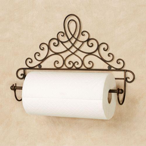 Cassoria Wall Paper Towel Holder Antique Bronze