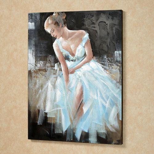 Lady Isabella Canvas Art Sky Blue