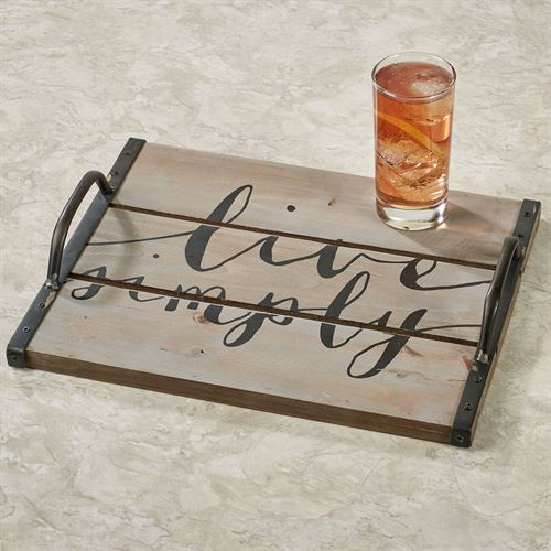 Live Simply Decorative Tray Natural