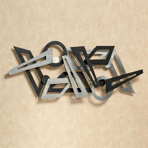 Reciprocal Metal Wall Sculpture Silver/Black