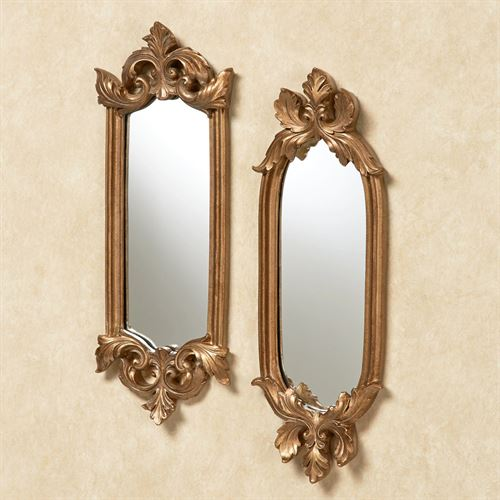 Felissia Wall Mirror Set Satin Gold Set of Two