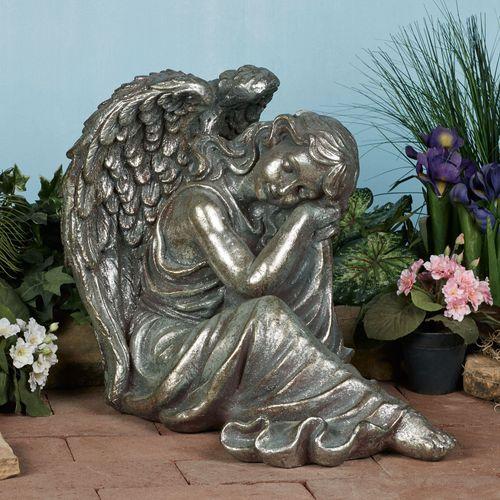 Sweet Dreams Angel Sculpture Gray