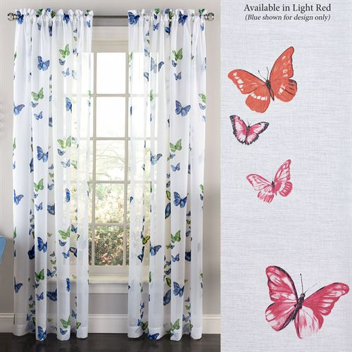 Dynamic Butterfly Semi Sheer Curtain Panel
