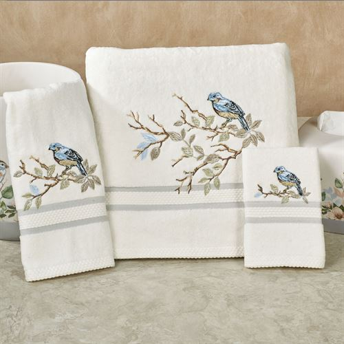 Love Nest Bath Towel Set Ivory Bath Hand Fingertip