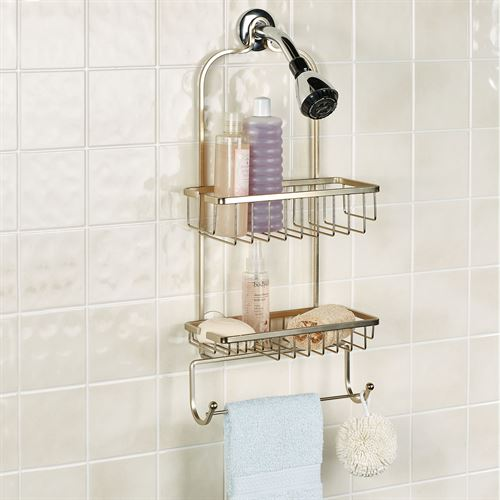 Pristine Rust Resistant Hanging Shower Caddy with Suction Cups