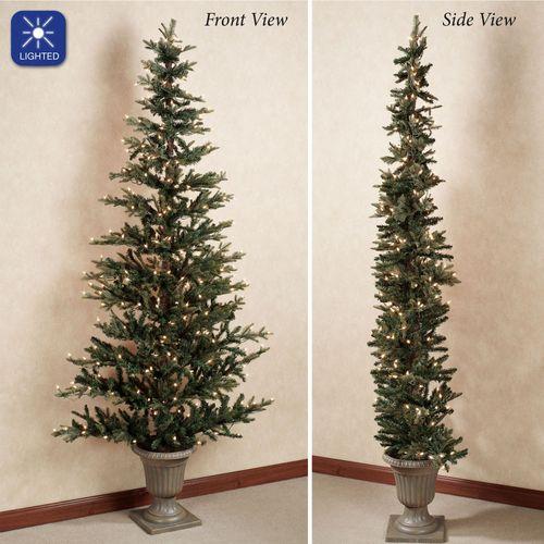 Pre-Lit Flat Christmas Tree Green