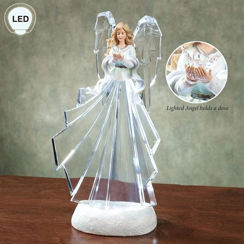 Lighted Angel Figurine Clear