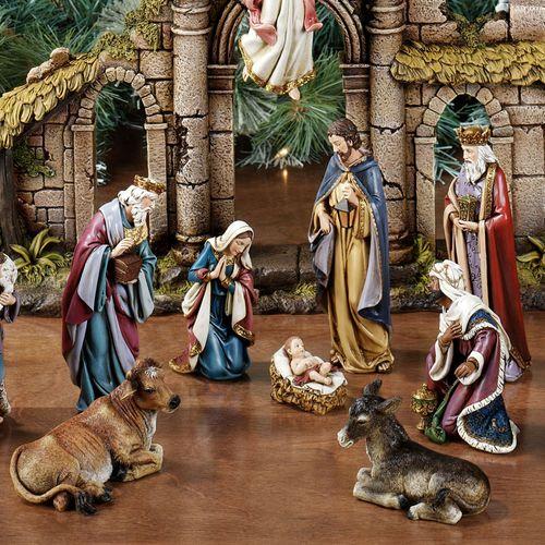 Holy Family Figurine Set Multi Warm Set of Three