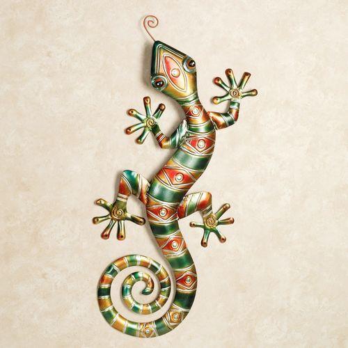 Southwest Gecko Wall Art Multi Warm