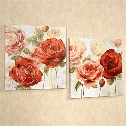 Radiant Blooms Canvas Art Multi Bright Set of Two