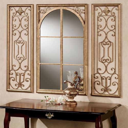 Provence Antique Gold Wall Mirror Set of Three