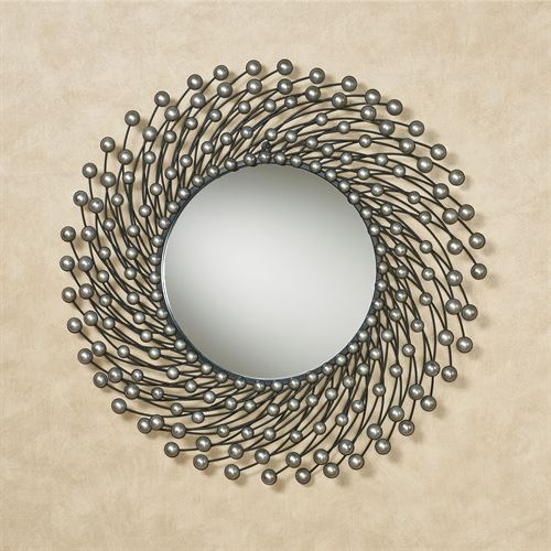 Dreana Wall Mirror Silver/Black