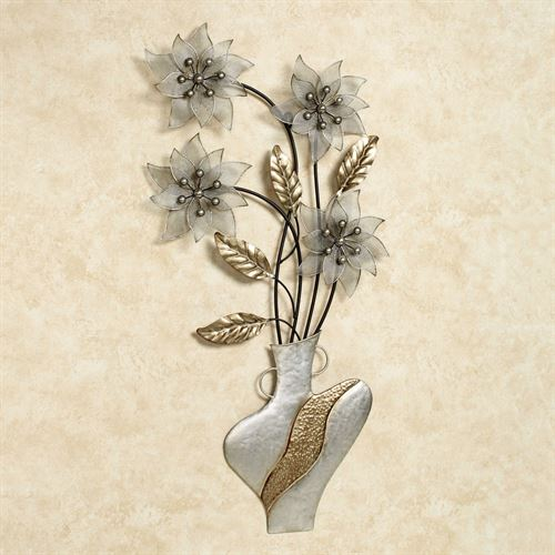 Blooming Melody Wall Art Multi Metallic