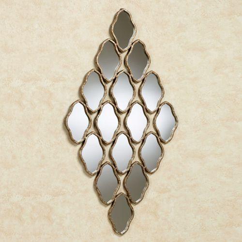 Iamia Mirrored Wall Art Burnished Bronze
