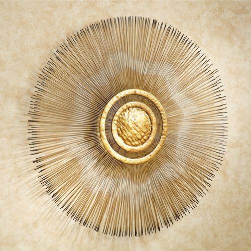 Sunburst Metal Wall Sculpture Gold